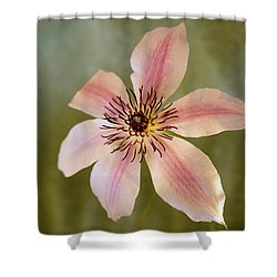 Floating Clematis Blossom Shower Curtain