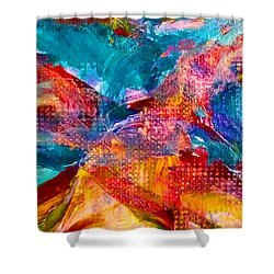 Shower Curtain featuring the painting Floating Feather Swirls by Claire Bull