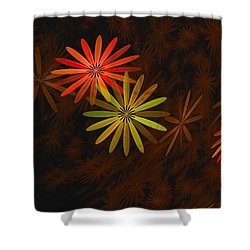 Floating Floral-008 Shower Curtain by David Lane