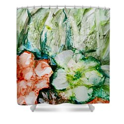 Floating Flowers 3 Shower Curtain by Laurie Morgan