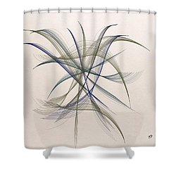 Floating Free Shower Curtain
