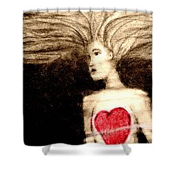 Floating Heart Shower Curtain