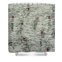 Floating Hearts #10 Shower Curtain