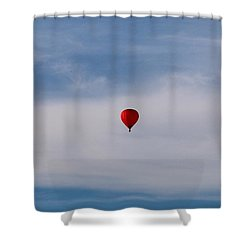 Shower Curtain featuring the photograph Floating High  by Christy Pooschke