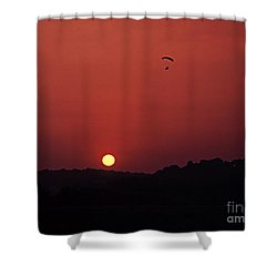Floating In Space Shower Curtain