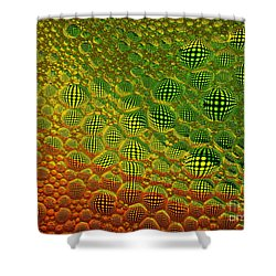 Floating In Space Shower Curtain by Trena Mara