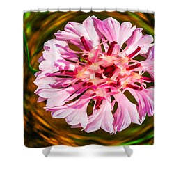 Shower Curtain featuring the painting Floating In Time by Omaste Witkowski