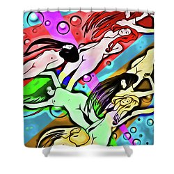Shower Curtain featuring the digital art Floating by John Haldane