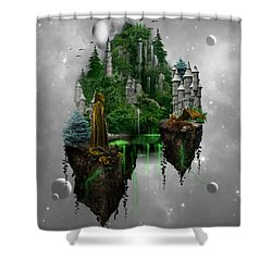 Floating Kingdom Shower Curtain by Ali Oppy