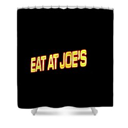 Floating Neon - Eat At Joes Shower Curtain