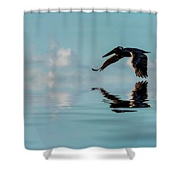 Floating On Air Shower Curtain by Cyndy Doty