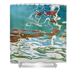 Floating On Blue 35 Shower Curtain by Wendy Wilton