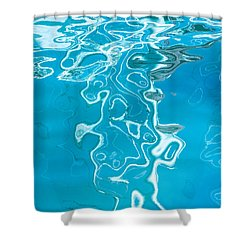 Floating On Blue 38 Shower Curtain by Wendy Wilton