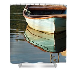 Shower Curtain featuring the photograph Floating On Blue 44 by Wendy Wilton
