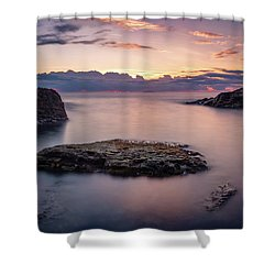 Floating Rocks Shower Curtain
