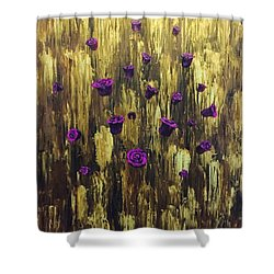 Floating Royal Roses 1 Shower Curtain