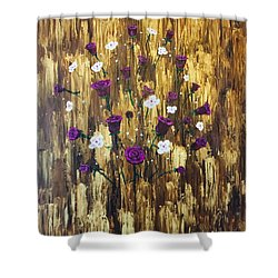 Floating Royal Roses Shower Curtain