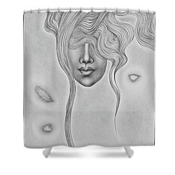 Floating Sorrow Shower Curtain
