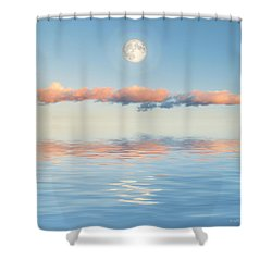 Floating Through Blue Shower Curtain by Jerry McElroy