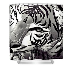 Floating Tiger Shower Curtain