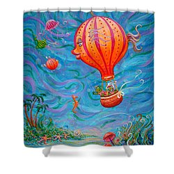 Floating Under The Sea Shower Curtain