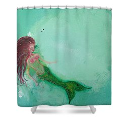 Floaty Mermaid Shower Curtain