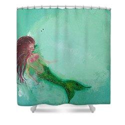 Floaty Mermaid Shower Curtain
