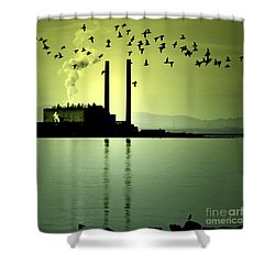 Shower Curtain featuring the photograph Flock Of Gulls by Craig B