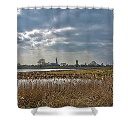 Floodplains Near Culemborg Shower Curtain