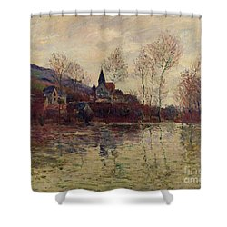 Floods At Giverny Shower Curtain by Claude Monet