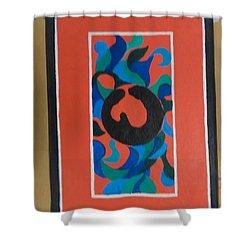 Floor Cloth E - Sold Shower Curtain by Judith Espinoza