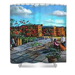 Flor De Noche Buena Shower Curtain
