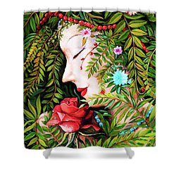 Shower Curtain featuring the painting Flora-da-vita by Igor Postash