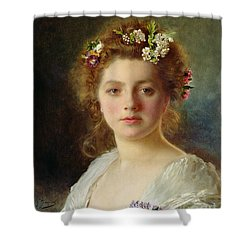 Flora Shower Curtain by Gustave Jacquet