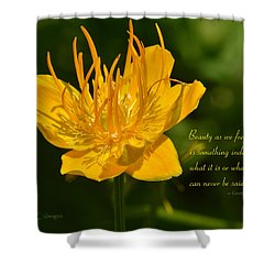 Floral #3 With Text Shower Curtain