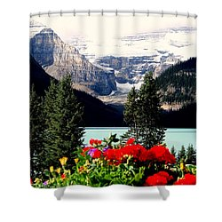 Floral And Ice Shower Curtain by Karen Wiles