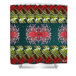 Floral Contemporary Art Shower Curtain by Gary Crockett