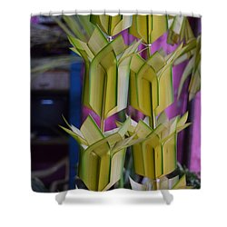 Floral Decoration Shower Curtain by Mini Arora