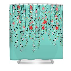 Floral Dilemma Shower Curtain