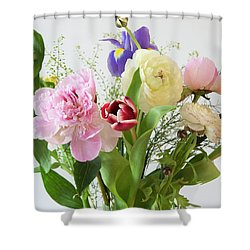 Shower Curtain featuring the photograph Floral Display by Wendy Wilton