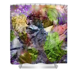 Floral Dream Of Oriental Beauty Shower Curtain