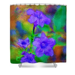 Floral Expression Shower Curtain by David Lane
