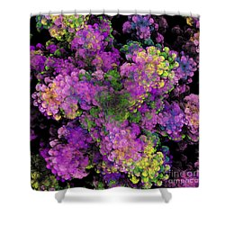 Shower Curtain featuring the digital art Floral Fancy Abstract by Andee Design