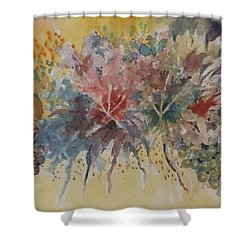 Shower Curtain featuring the painting Floral Fantasy by Al Brown