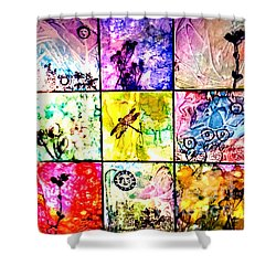 Floral Frenzy Shower Curtain by Alene Sirott-Cope