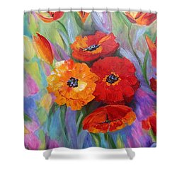 Floral Fusion Shower Curtain