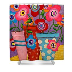 Floral Happiness Shower Curtain by John Blake