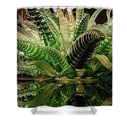 Floral In Glass Shower Curtain