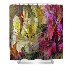 Floral Inspiration Shower Curtain by John Beck