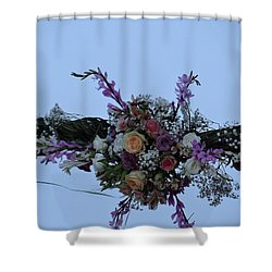 floral love in the Kenyan sky Shower Curtain
